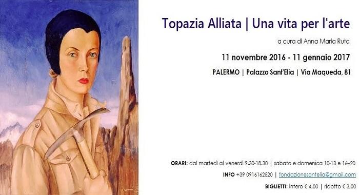 'Topazia Alliata. Una vita per l'arte' a Palazzo Sant'Elia